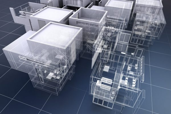 3D rendering of a group of professional buildings